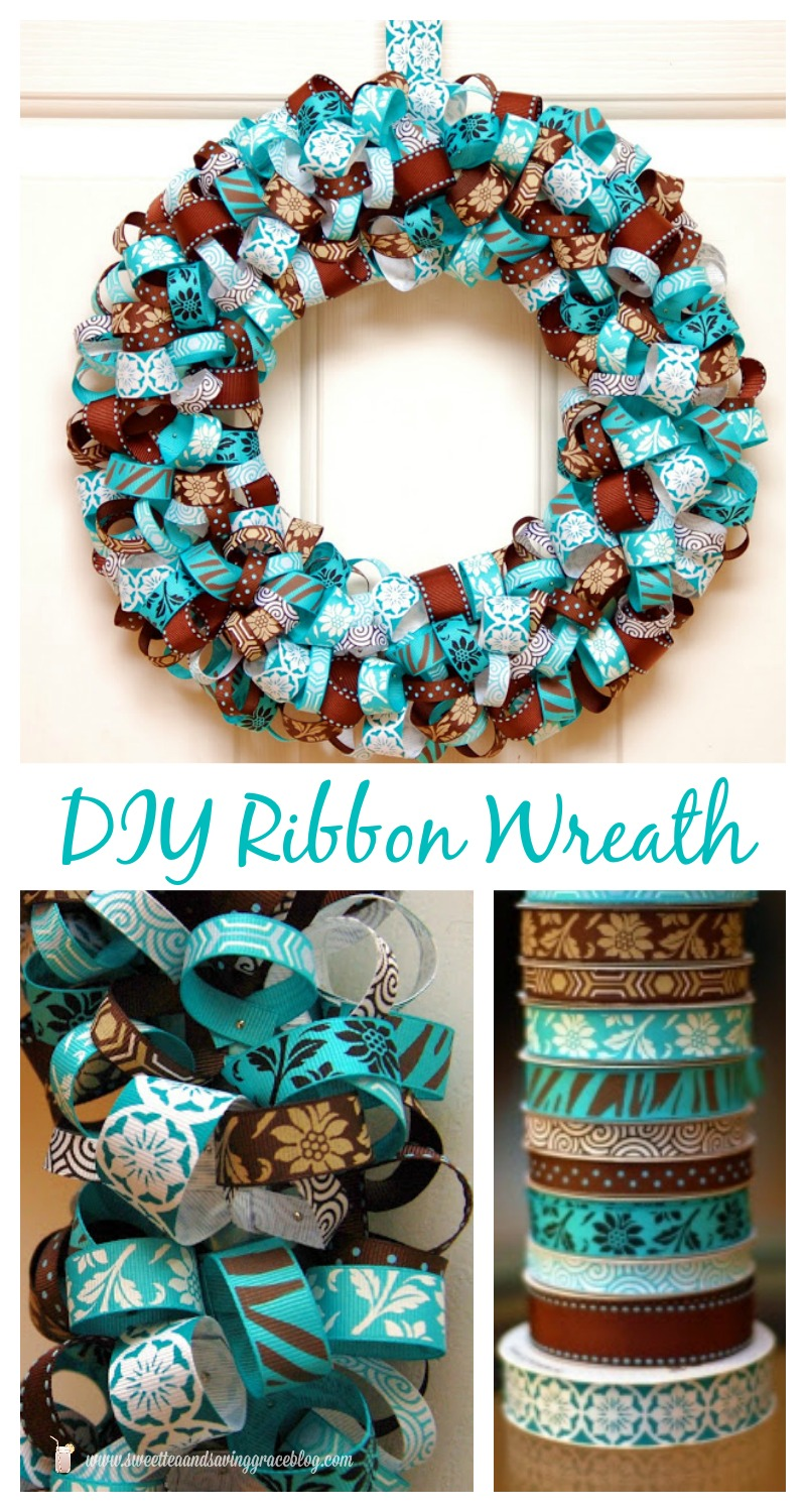 DIY Ribbon Wreath  |  Sweet Tea & Saving Grace