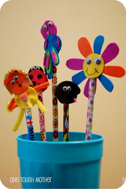 DIY Pencil Toppers – SO CUTE!