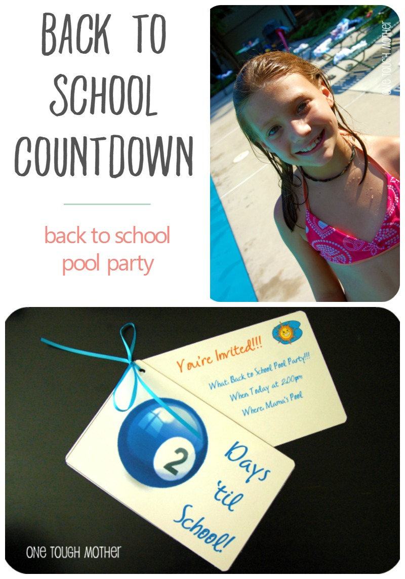 Back to School Countdown Day 2