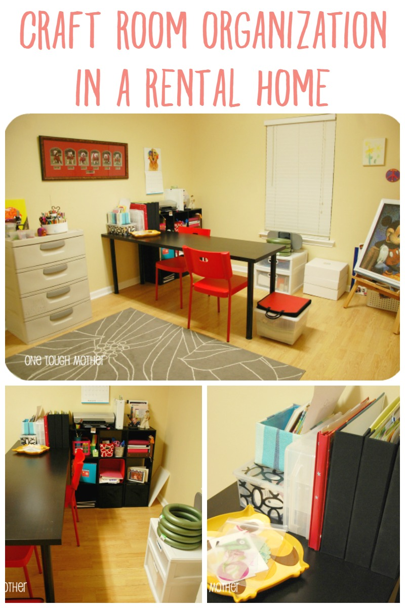Craft Room Organization In A Rental