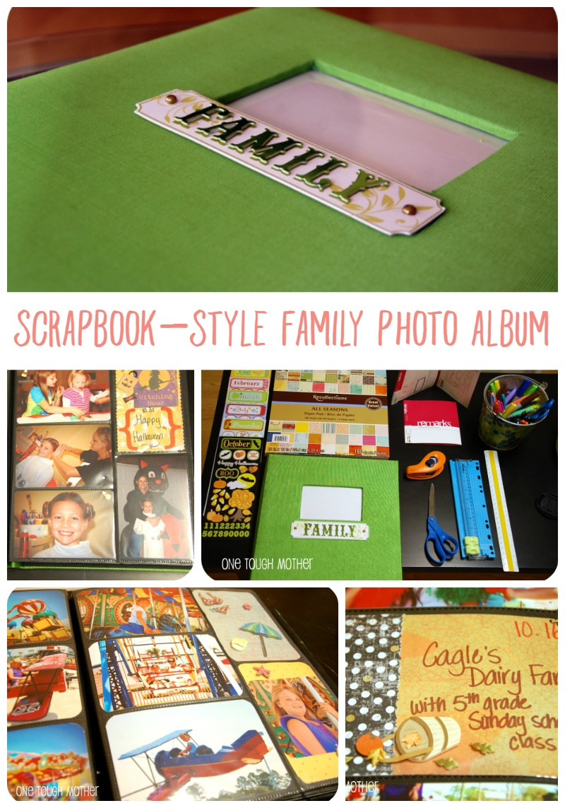 Scrapbook Style Family Photo Album