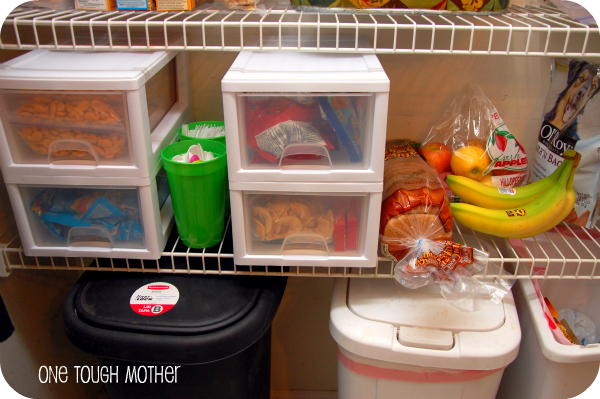 Pantry Organization Part 1 – Lunch Station
