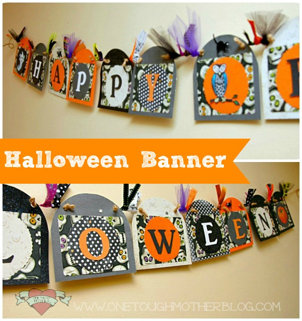 DIY Happy Halloween Banner | Sweet Tea & Saving Grace