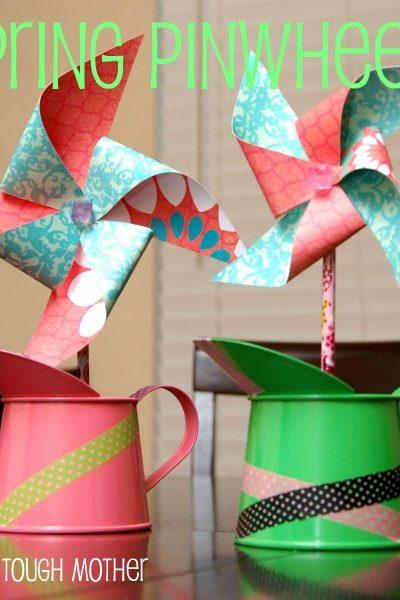 DIY Spring Pinwheels & Quick Washi Decor
