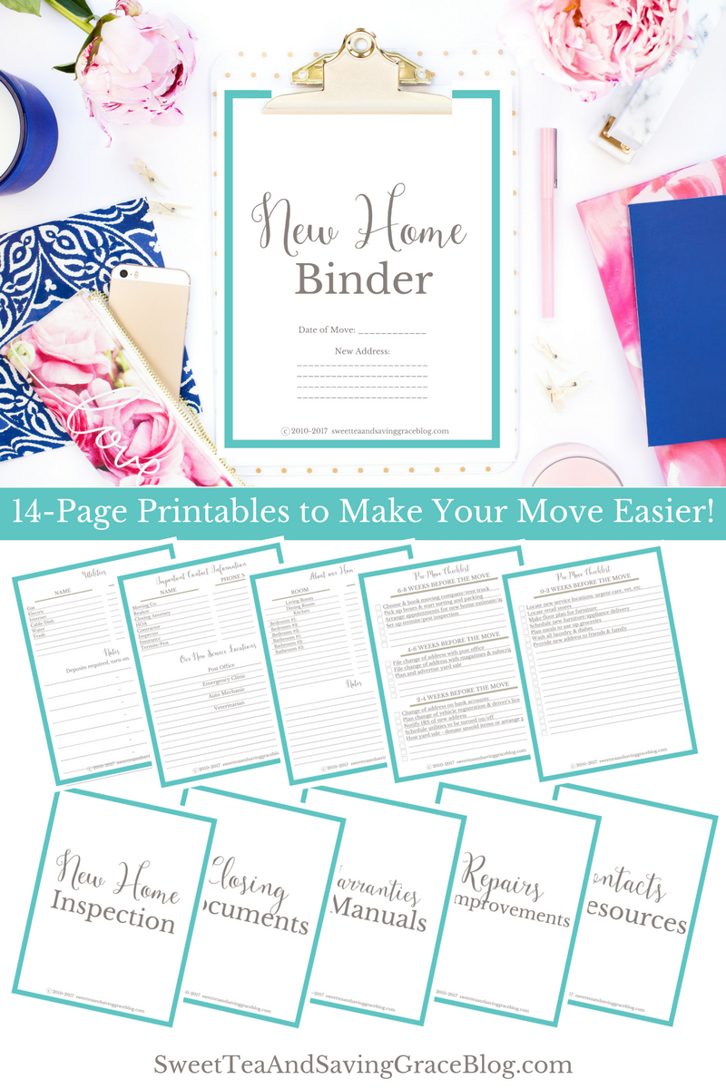 new home binder free printables sweet tea saving grace
