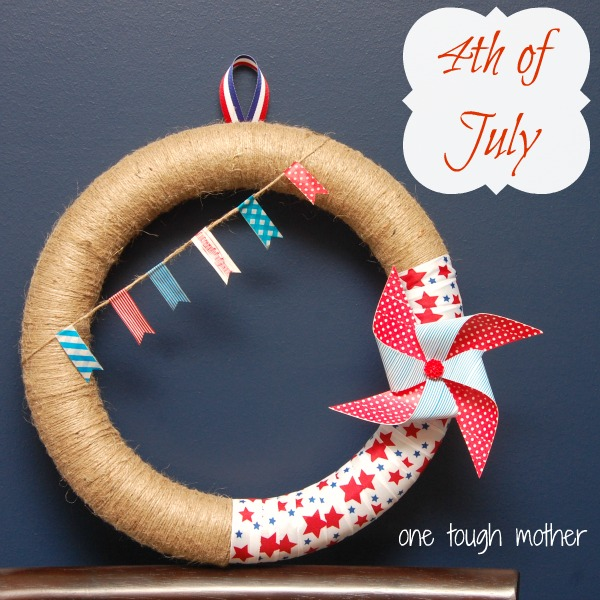 Happy 4th of July {Wreath}!