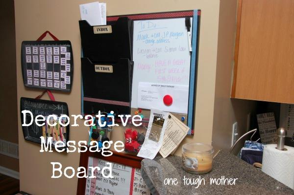 DIY Dry Erase Calendar & Message Board