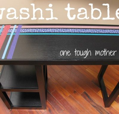 DIY Washi Table