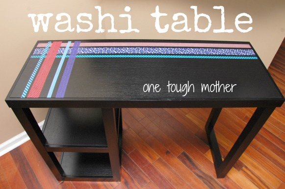 DIY Washi Table