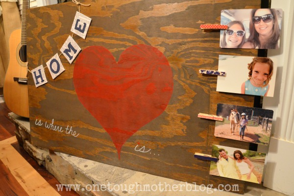 {Home Is Where the Heart Is} Photo Display
