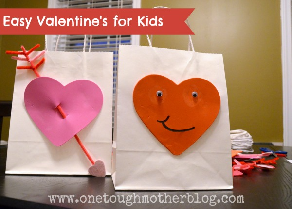 Easy Valentine's Bags for Kids