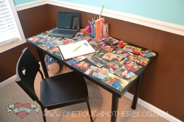 DIY Photo Collage Desk