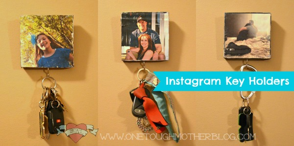 DIY Instagram Photo Key Holders