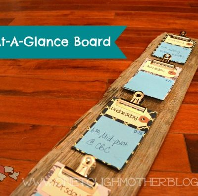 DIY Week-At-A-Glance Calendar from Repurposed Wood