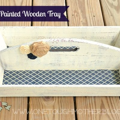 "DIY ""Vintage"" Wooden Tray Makeover"