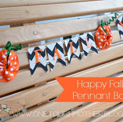 Ribbon Pumpkin Fall Pennant Banner – #myfavoritebloggers