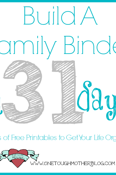 Build A Family Binder in 31 Days – Day 23