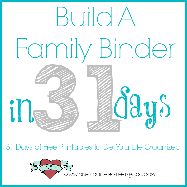 Build A Family Binder in 31 Days – Day 7