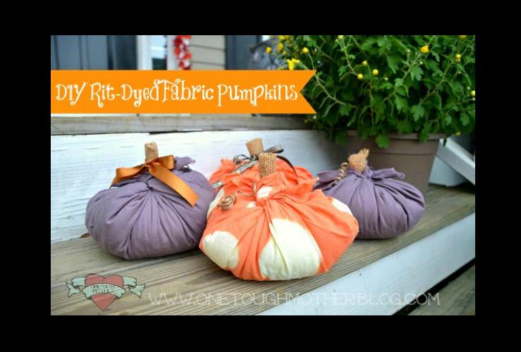 DIY Rit-Dyed Fabric Pumpkins