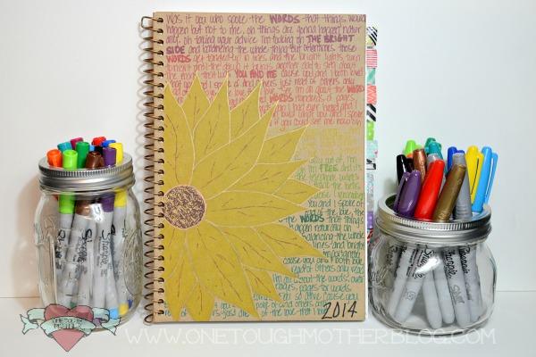 DIY Sharpie Art Journal sweetteaandsavinggraceblog.com