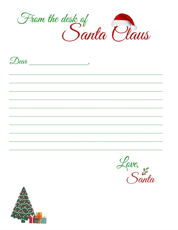 Juicy image throughout printable santa stationary
