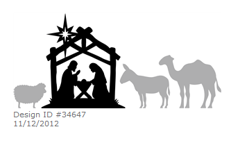 Silhouette Nativity Advent Candle Box Sweet Tea Amp Saving