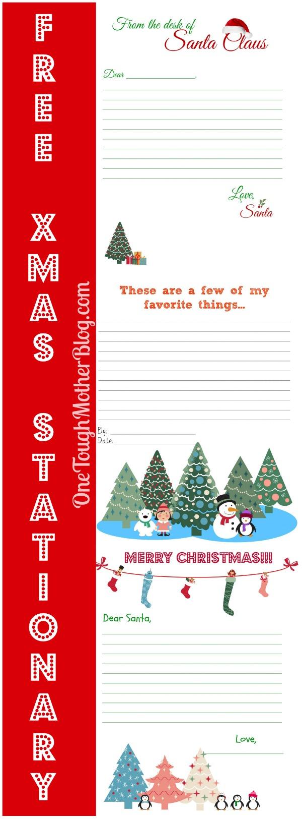Free Christmas Stationary sweetteaandsavinggraceblog.com