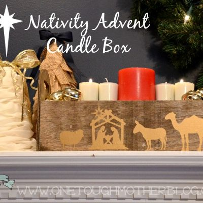 Silhouette Nativity Advent Candle Box + Amazon Gift Card Giveaway!