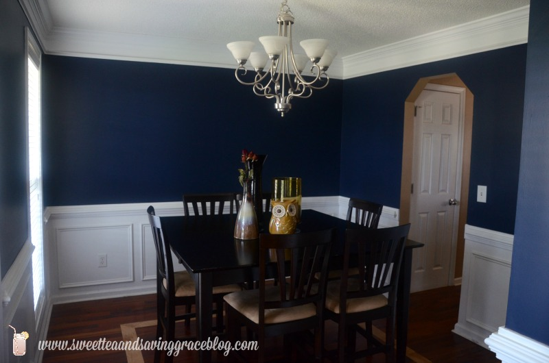 blue dining room. dining room Dining Room Planning with Home Goods  TJMaxx