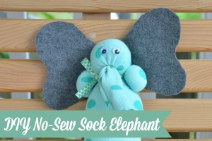 No-Sew Sock Elephant