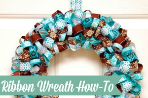 Ribbon Wreath How-To