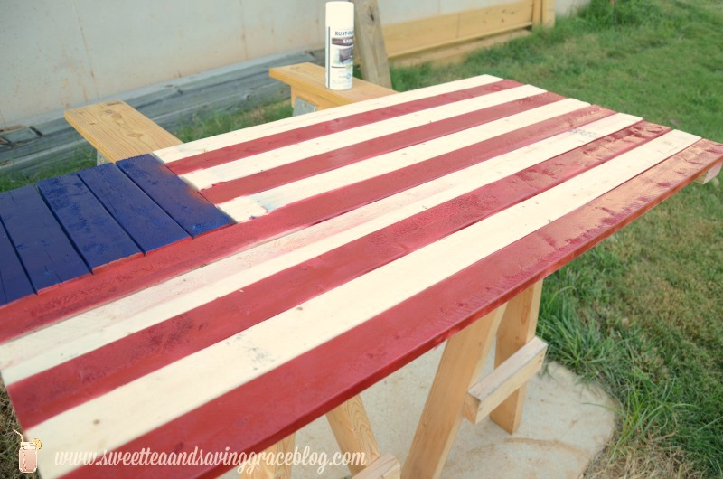 DIY Wooden American Flag    Sweet Tea & Saving Grace