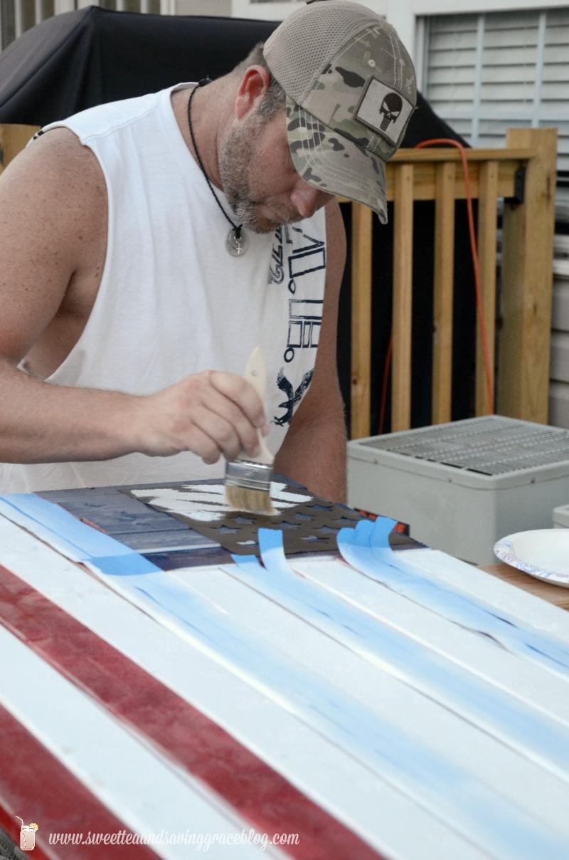 DIY Wooden American Flag    Sweet Tea & Saving Grace