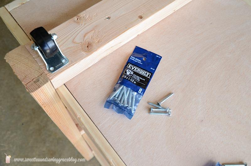 DIY Rolling Storage Cart  |  Sweet Tea & Saving Grace