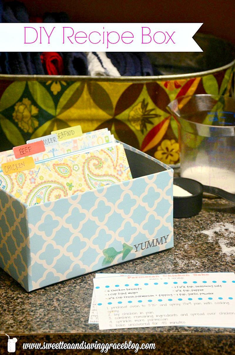 DIY Recipe Box | Sweet Tea u0026 Saving Grace & DIY Recipe Box from a Shoebox | Sweet Tea u0026 Saving Grace