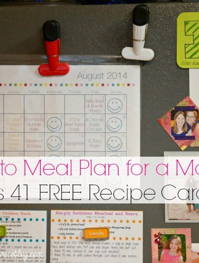 How to Meal Plan for a Month {or More!}