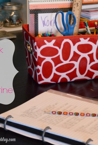 Simple Homework Station & Tips for a Healthy Routine