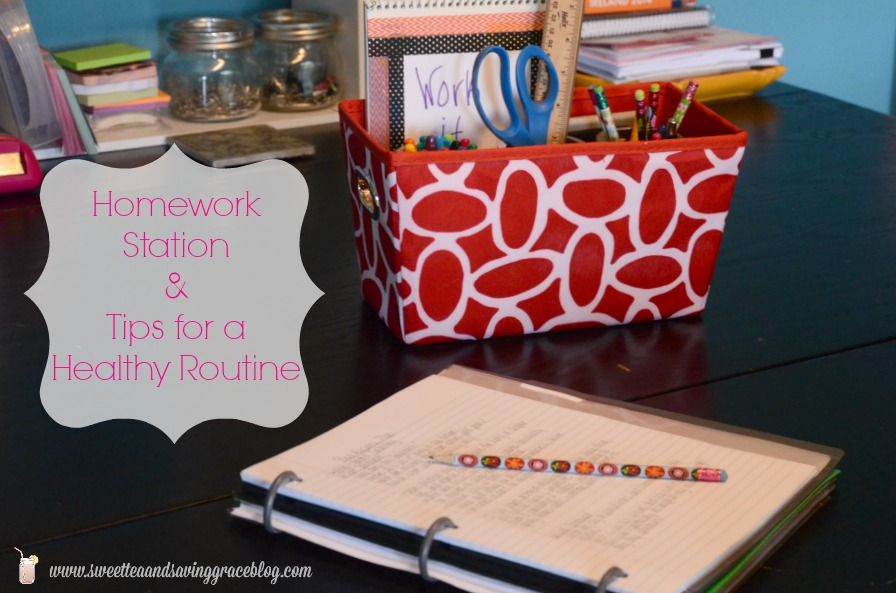 Homework Station | Sweet Tea & Saving Grace