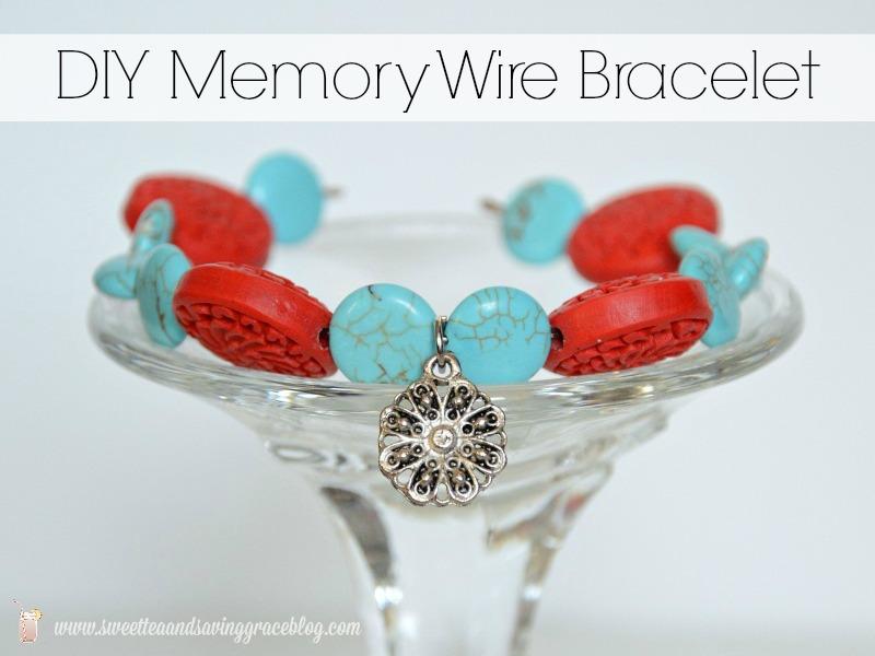 DIY Memory Wire Bracelet | Sweet Tea & Saving Grace