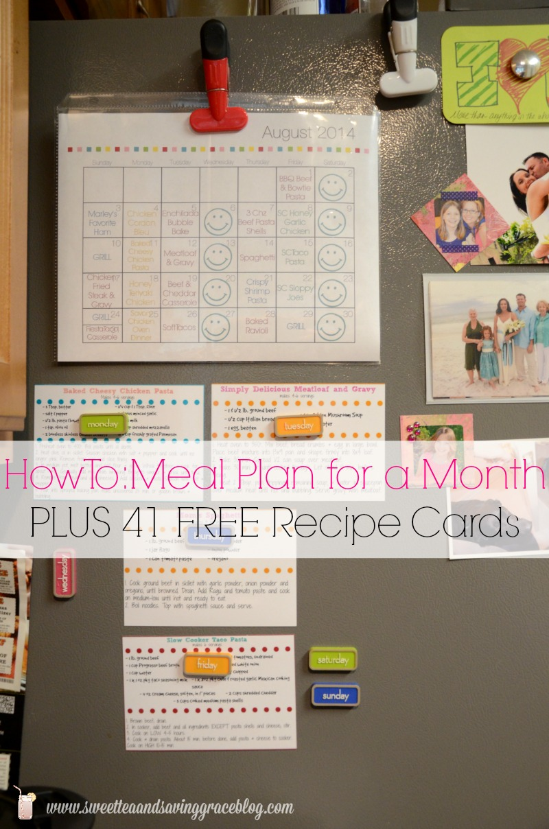how to meal plan for a month or more sweet tea saving grace