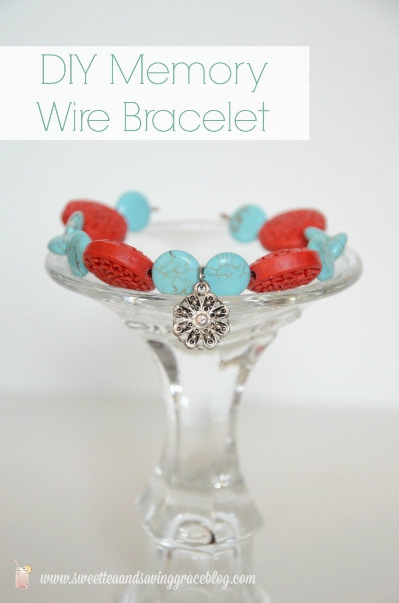 DIY Memory Wire Bracelet  |  Sweet Tea & Saving Grace