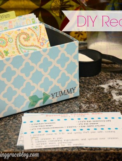DIY Recipe Box from a Shoebox