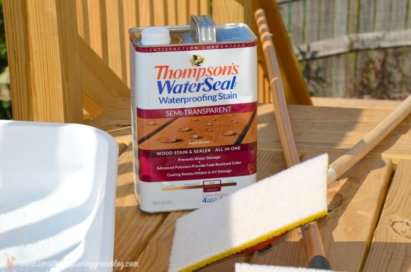 Thompson's WaterSeal – Back Deck