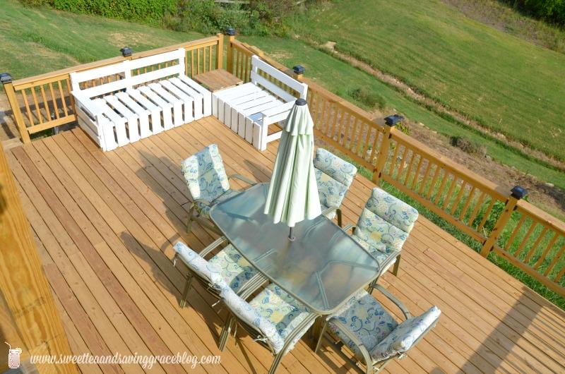DIY Deck Sectional  |  Sweet Tea & Saving Grace
