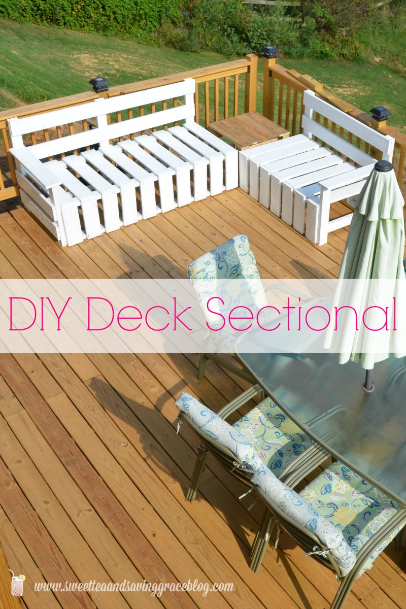 DIY Deck Sectional  |  Sweet Tea & Saving Grace