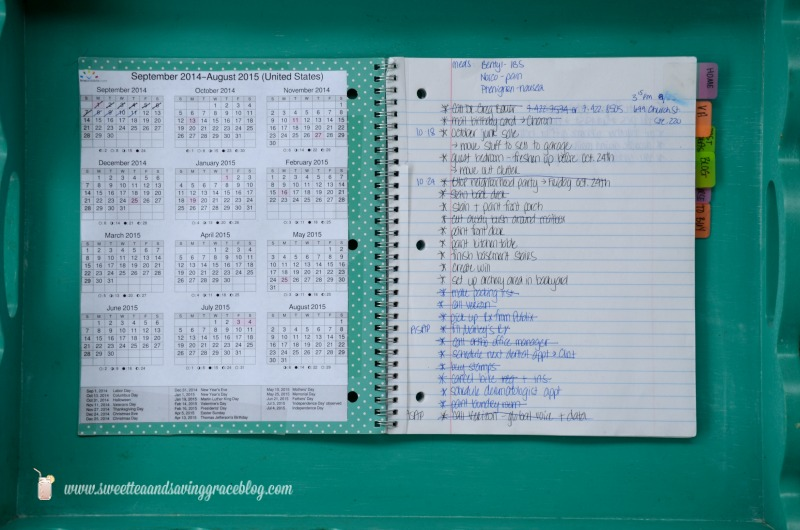 How I Organize My Brain  |  Sweet Tea & Saving Grace