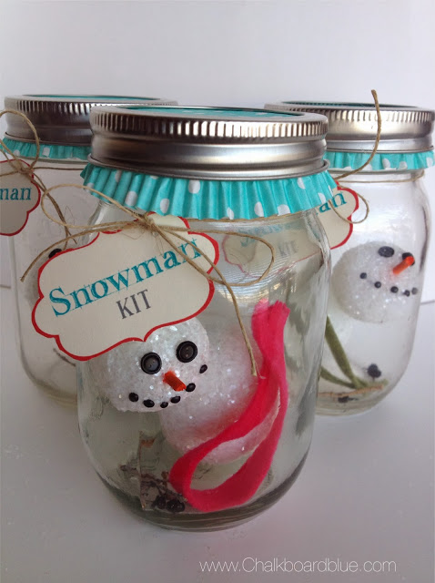 Snowman In A Jar  |  Simply Kierste