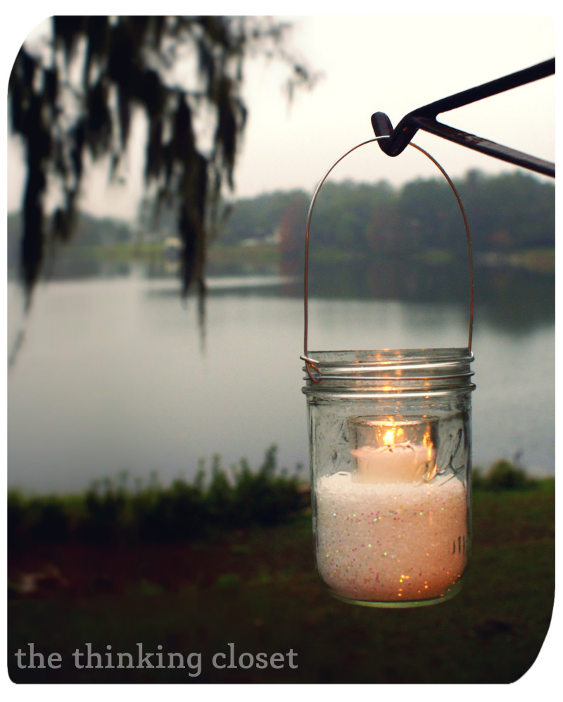 Winter Mason Jar Lanterns  |  The Thinking Closet
