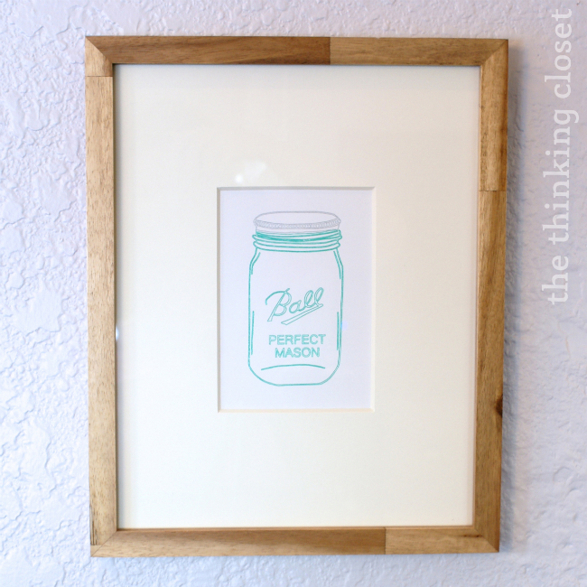 Mason Jar Art  |  The Thinking Closet