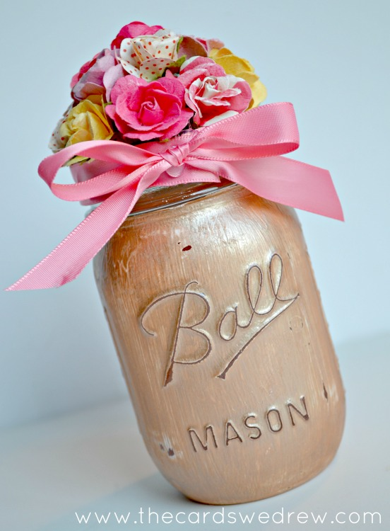 Flower Mason Jar  |  The Cards We Drew